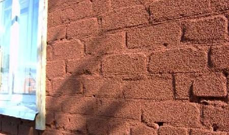 пробковое покрытие на фасаде здания