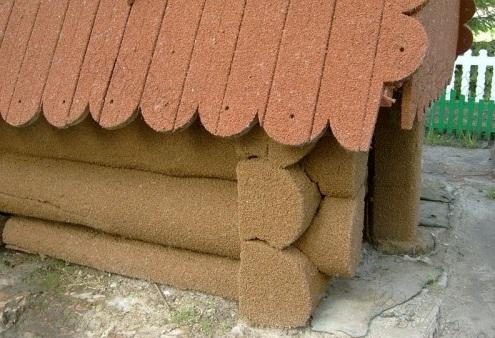 дом покрытый пробковым покрытием
