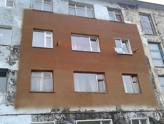 отделка фасада здания пробковым покрытием